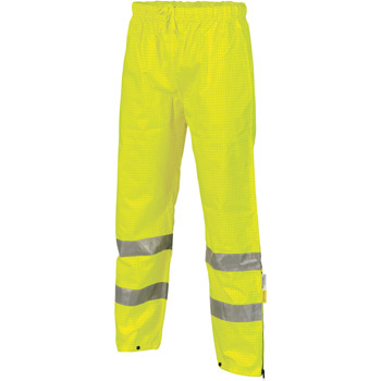 DNC 3876 HI VIS BREATHABLE ANTI STATIC PANTS WITH 3M TAPE